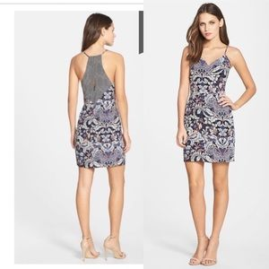 0928d6900a Greylin  Morris print silk sheath dress - size s